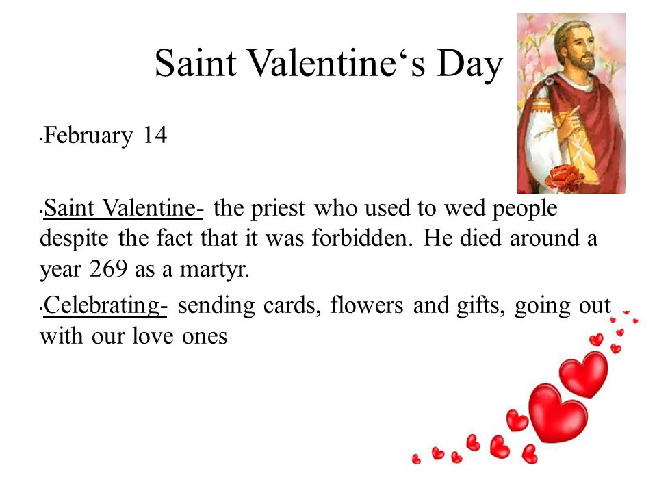 Saint Valentine's Day February 14
