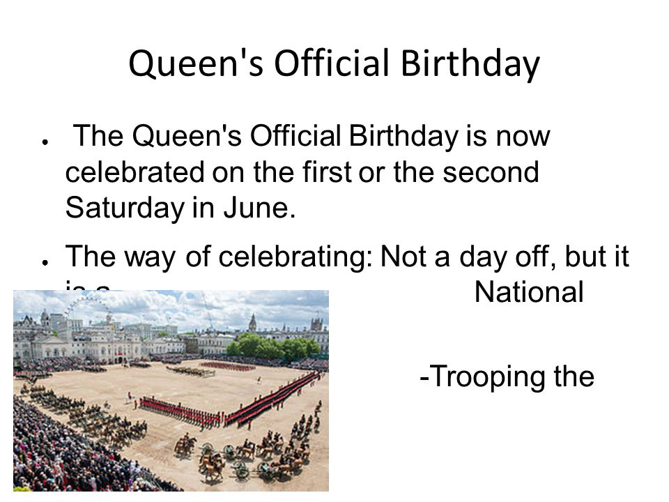 Queen s Official Birthday