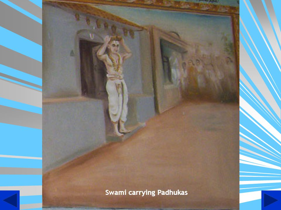 Swami carrying Padhukas