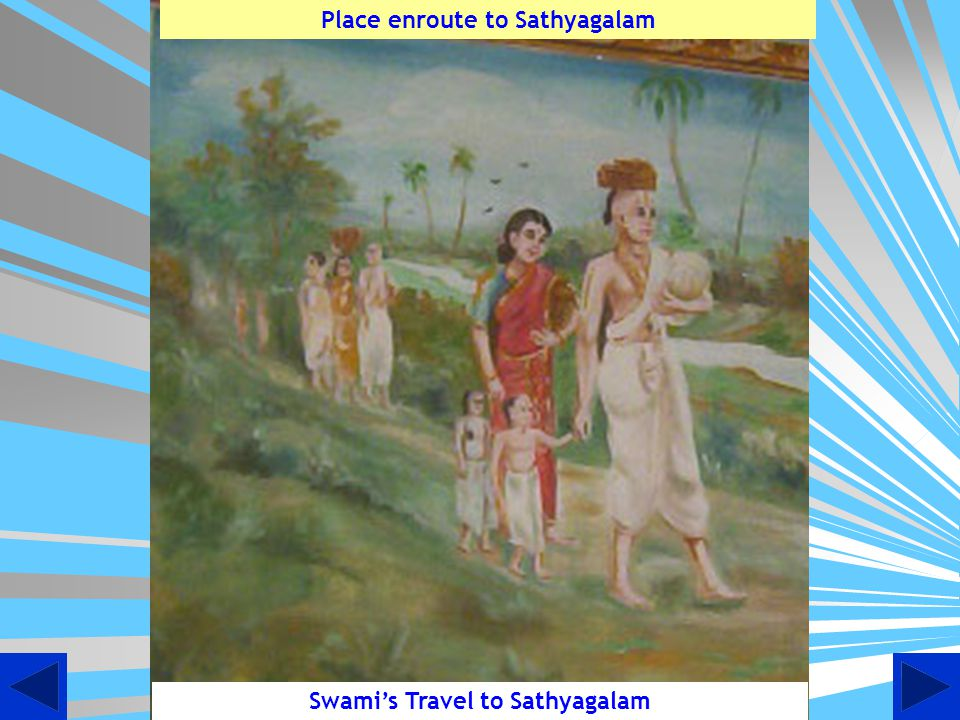 Place enroute to Sathyagalam Swami's Travel to Sathyagalam