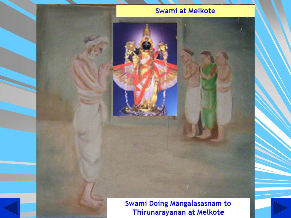 Swami Doing Mangalasasnam to Thirunarayanan at Melkote