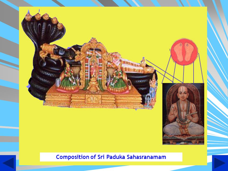 Composition of Sri Paduka Sahasranamam