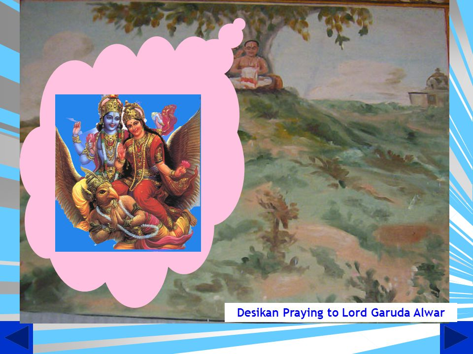 Desikan Praying to Lord Garuda Alwar