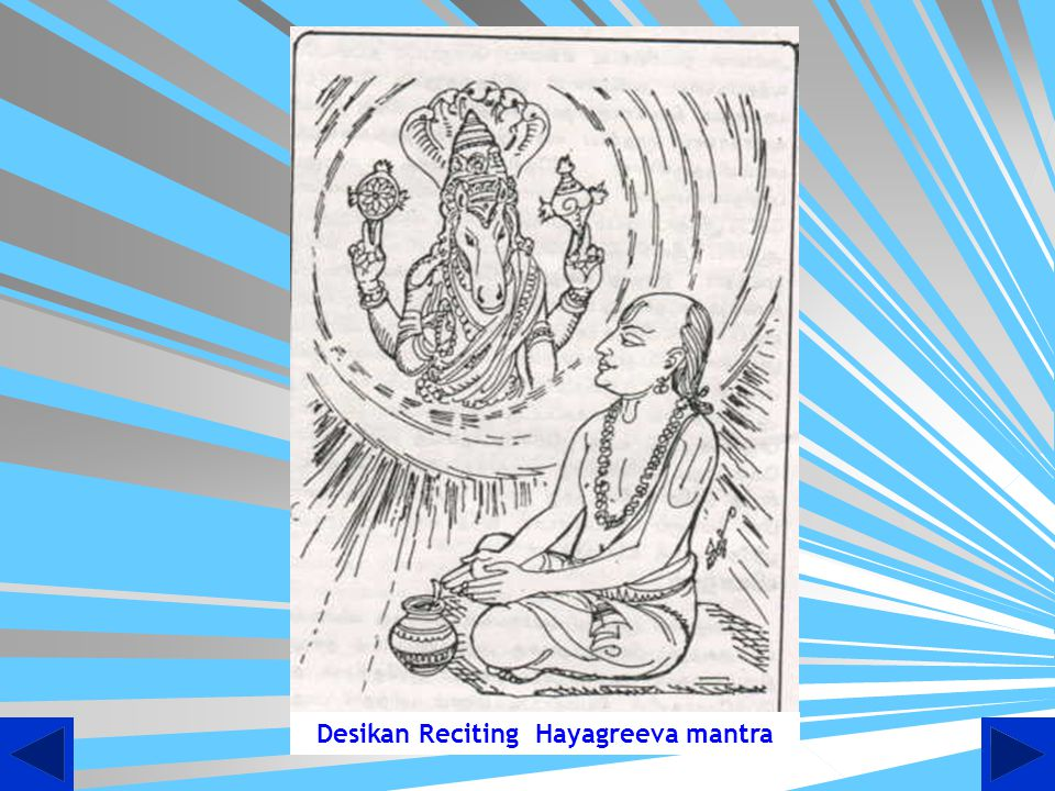 Desikan Reciting Hayagreeva mantra
