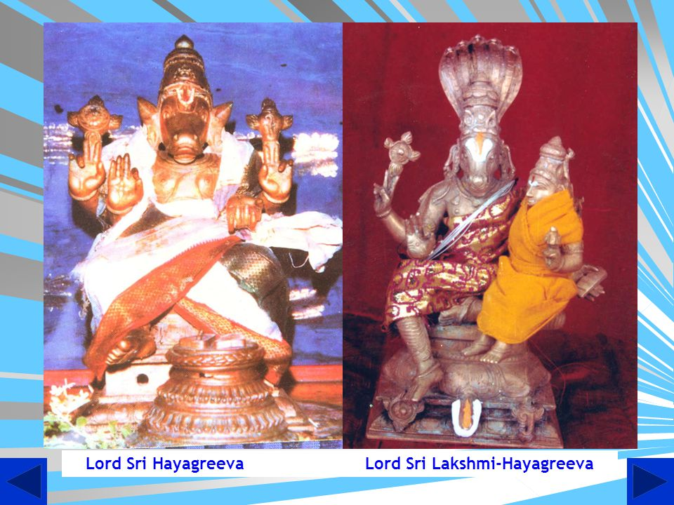 Lord Sri Hayagreeva Lord Sri Lakshmi-Hayagreeva