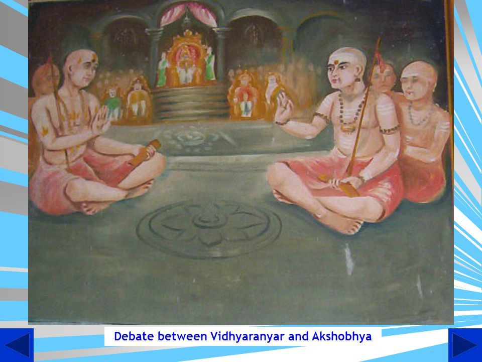 Debate between Vidhyaranyar and Akshobhya