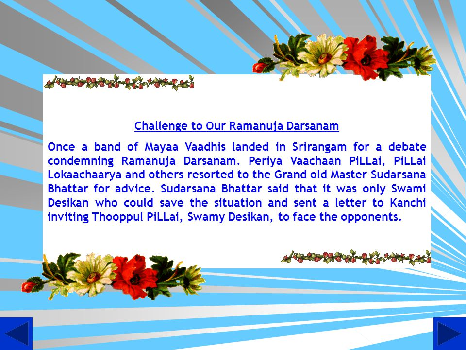 Challenge to Our Ramanuja Darsanam