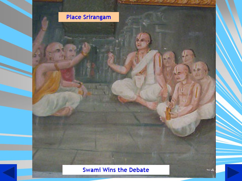 Place Srirangam Swami Wins the Debate