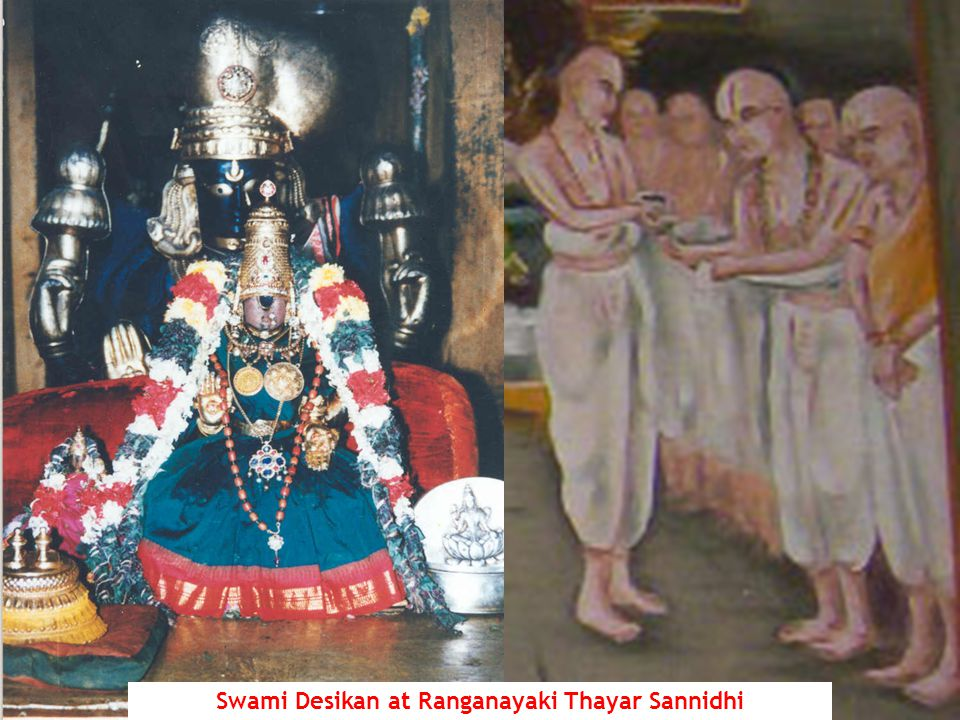 Swami Desikan at Ranganayaki Thayar Sannidhi