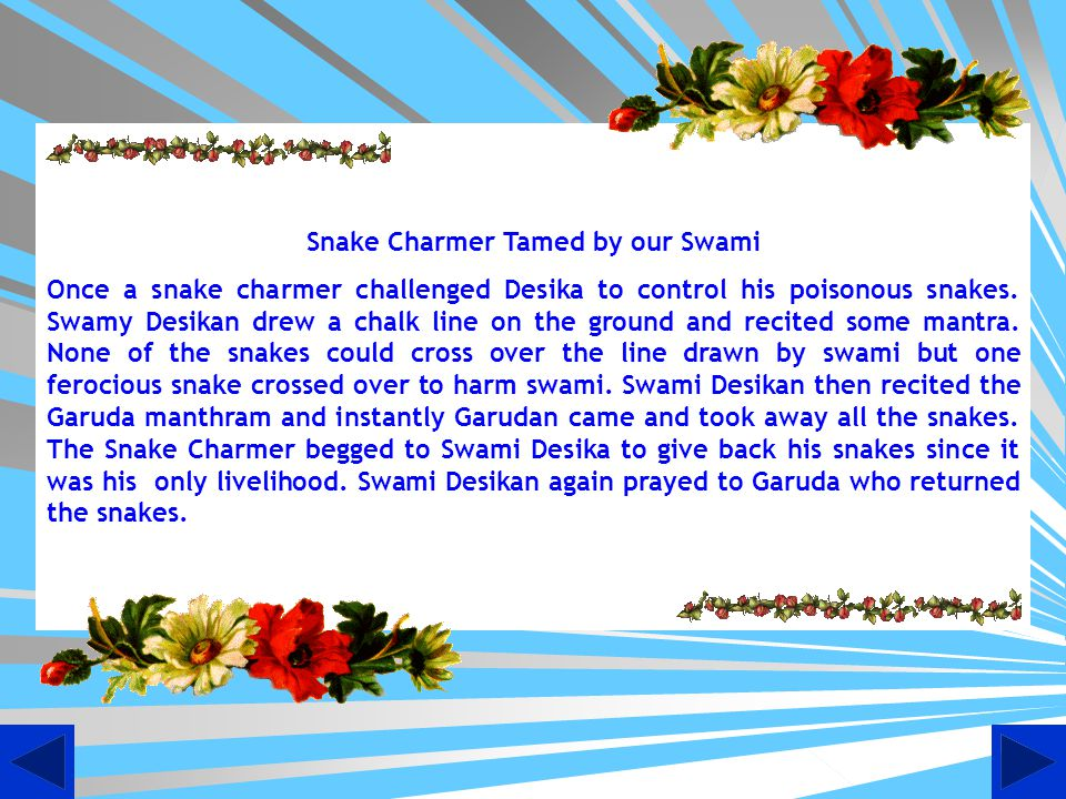 Snake Charmer Tamed by our Swami