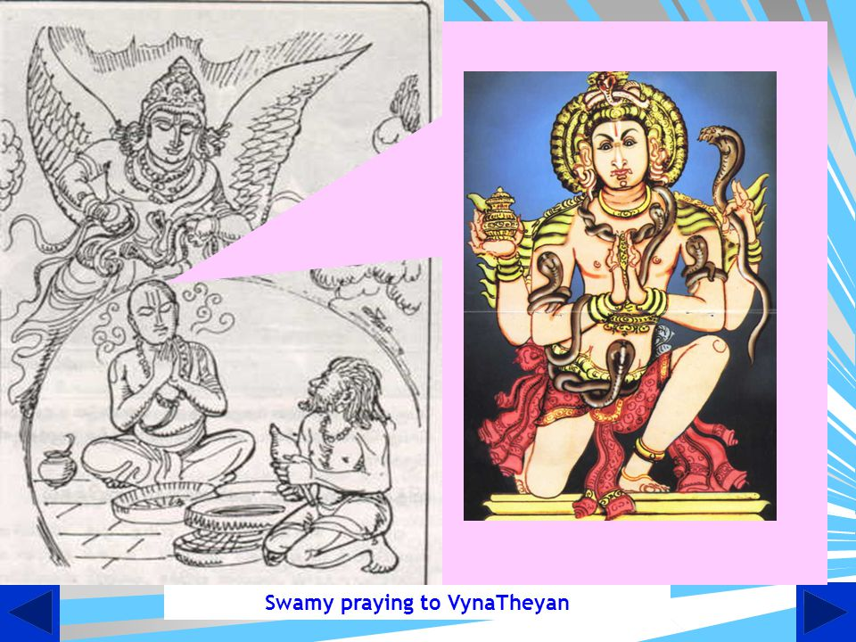 Swamy praying to VynaTheyan