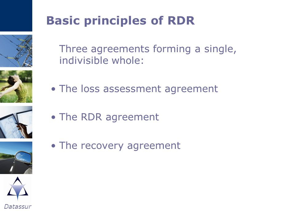 Basic principles of RDR