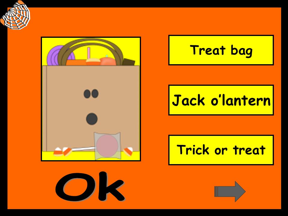 Treat bag Jack o'lantern Trick or treat Ok