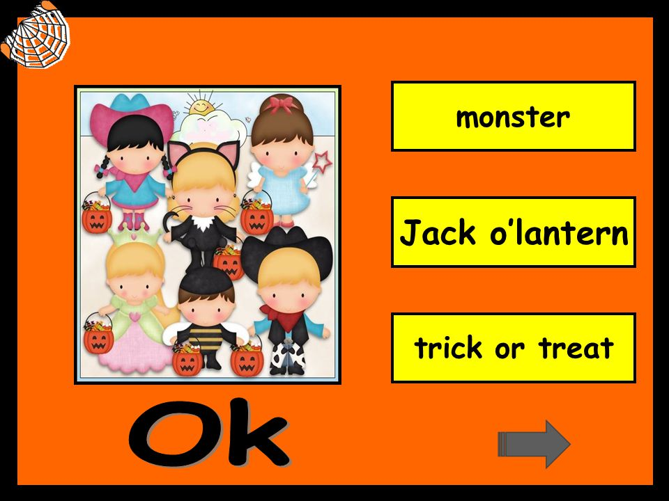 monster Jack o'lantern trick or treat Ok