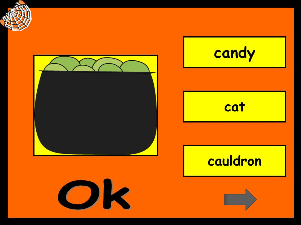 candy cat cauldron Ok