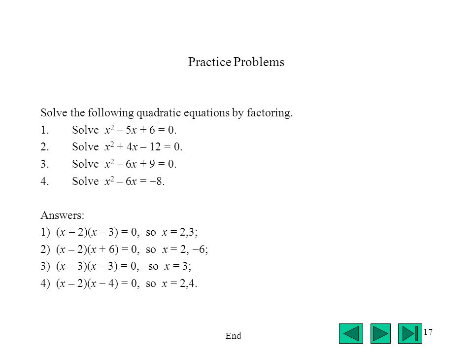 solve for x practice problems