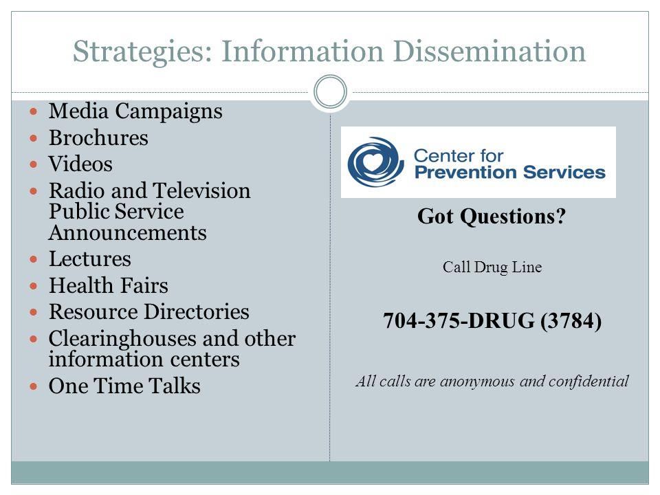 Strategies: Information Dissemination