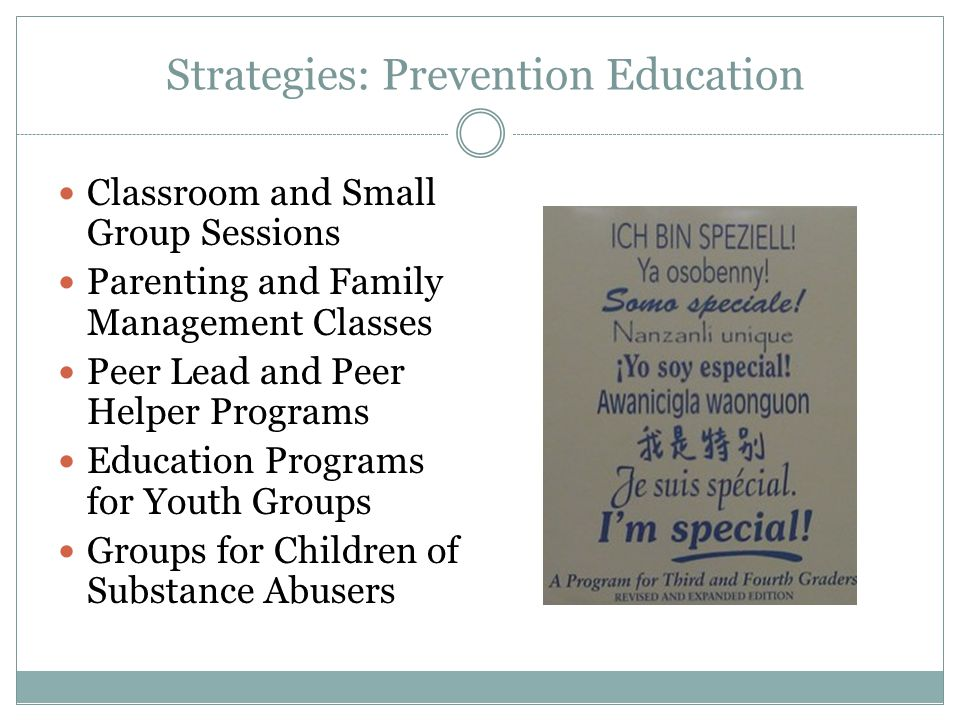 Strategies: Prevention Education