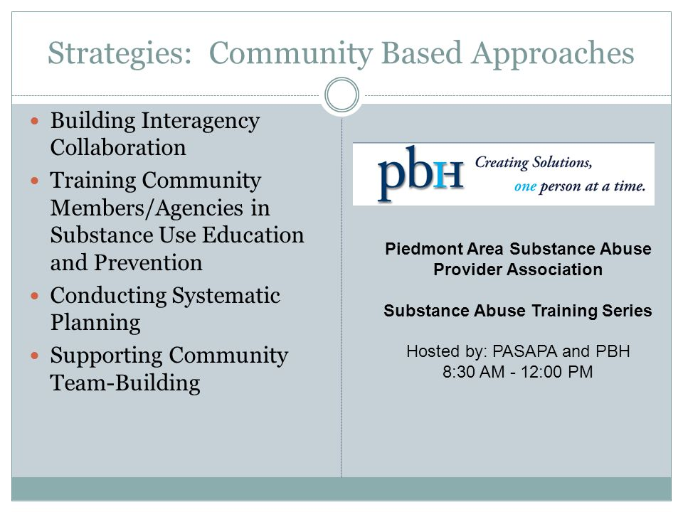 Strategies: Community Based Approaches