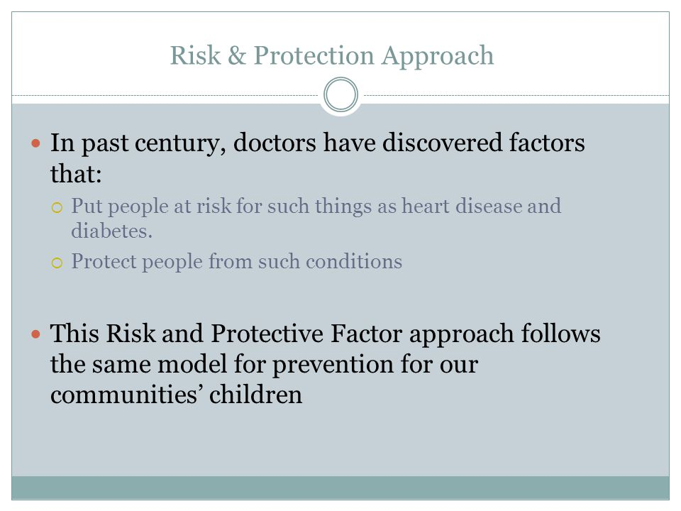 Risk & Protection Approach