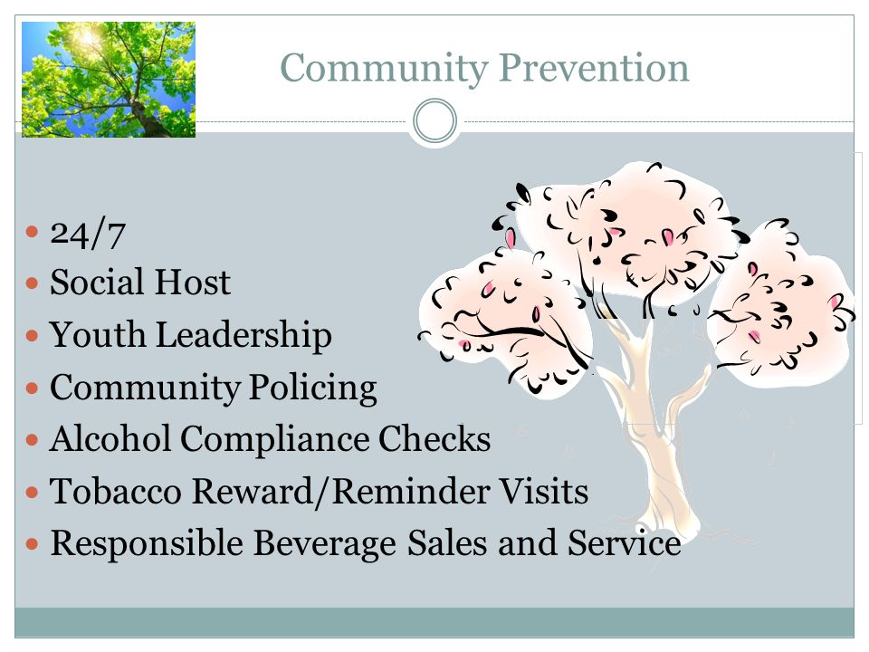 Community Prevention 24/7 Social Host Youth Leadership