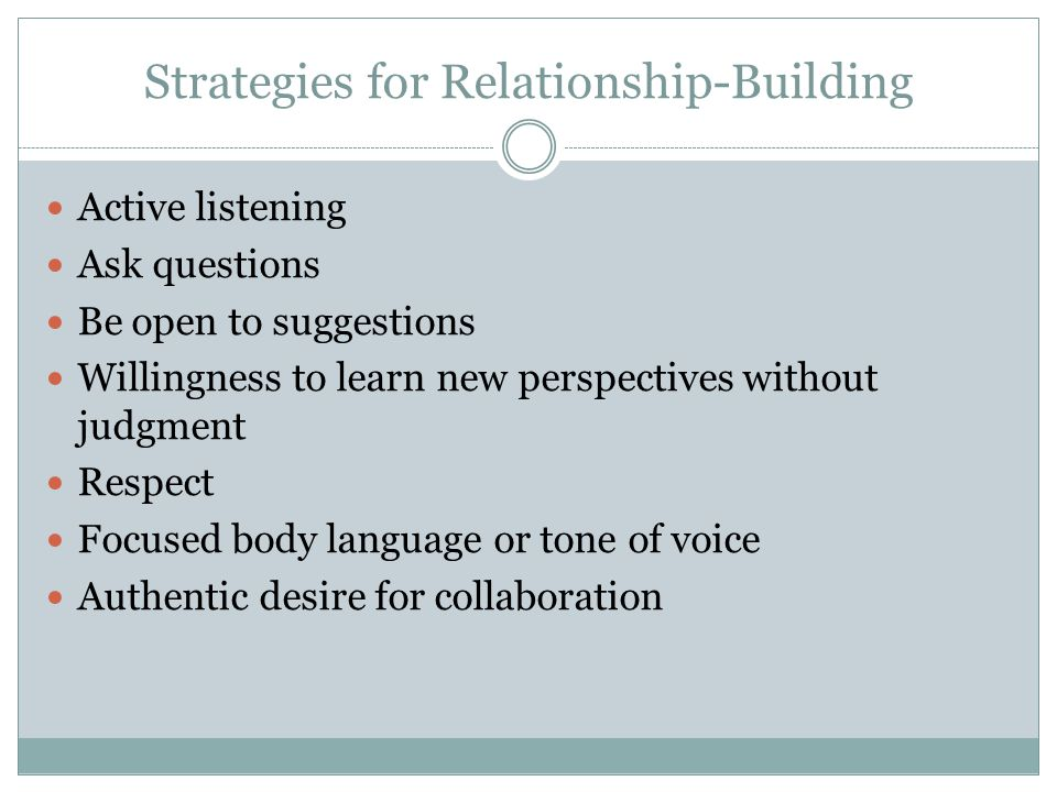 Strategies for Relationship-Building