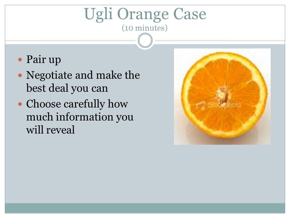Ugli Orange Case (10 minutes)