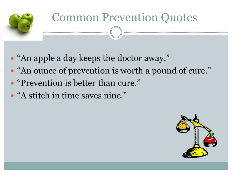 Common Prevention Quotes