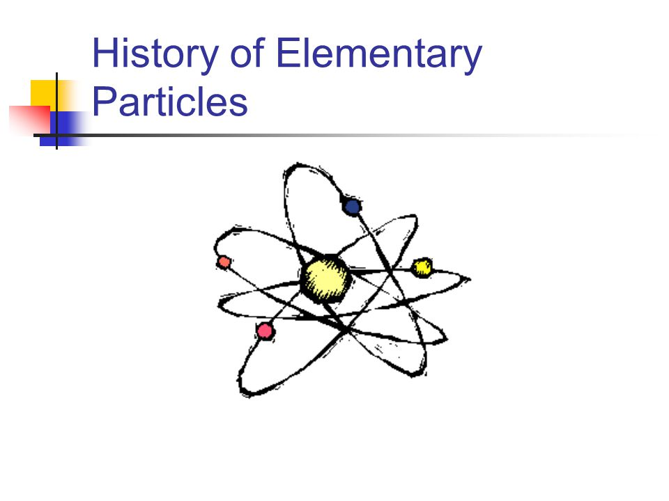 History of Elementary Particles
