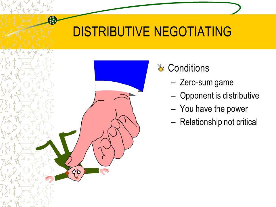 DISTRIBUTIVE NEGOTIATING