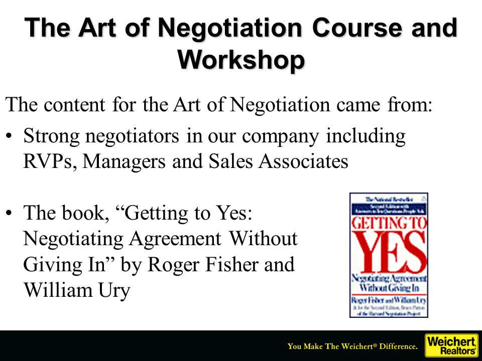 The Art of Negotiation Course and Workshop
