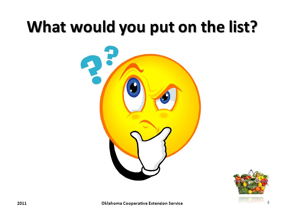 What would you put on the list