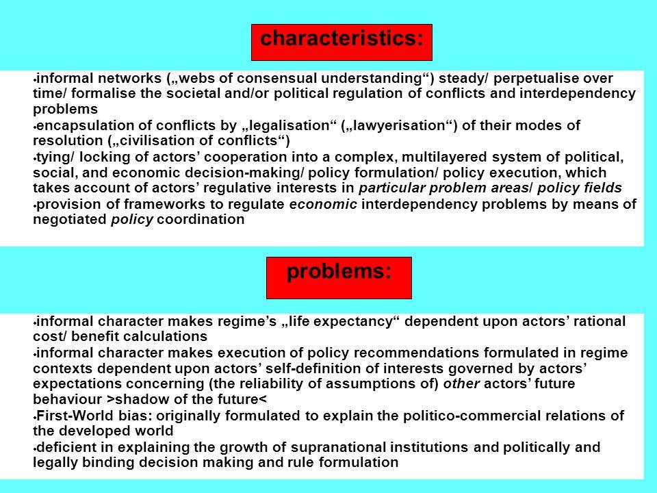 characteristics: problems: