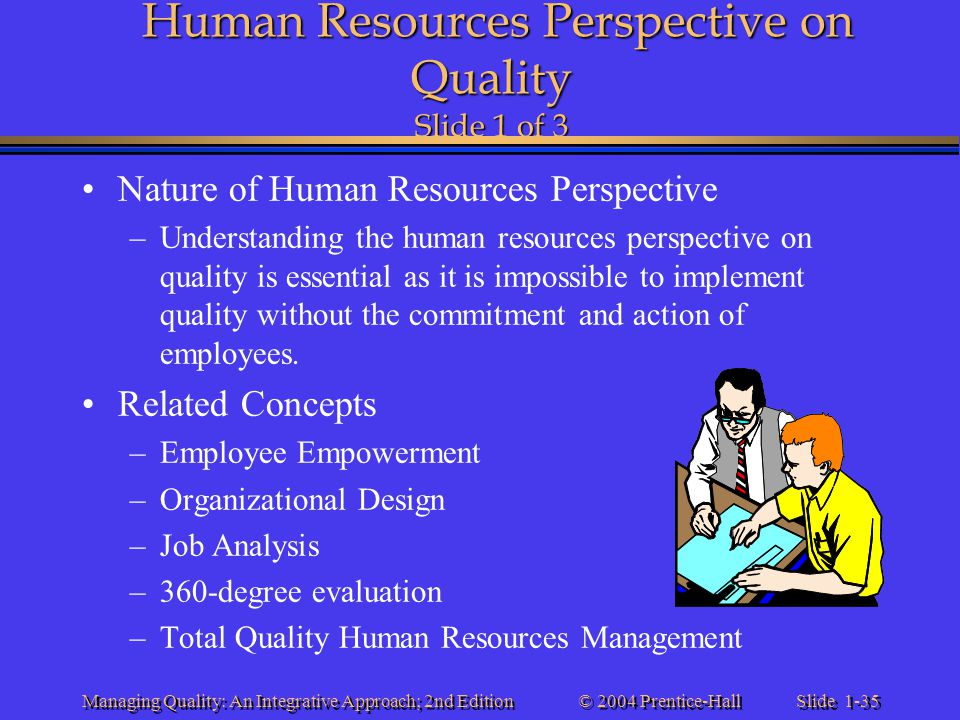 Human Resources Perspective on Quality Slide 1 of 3