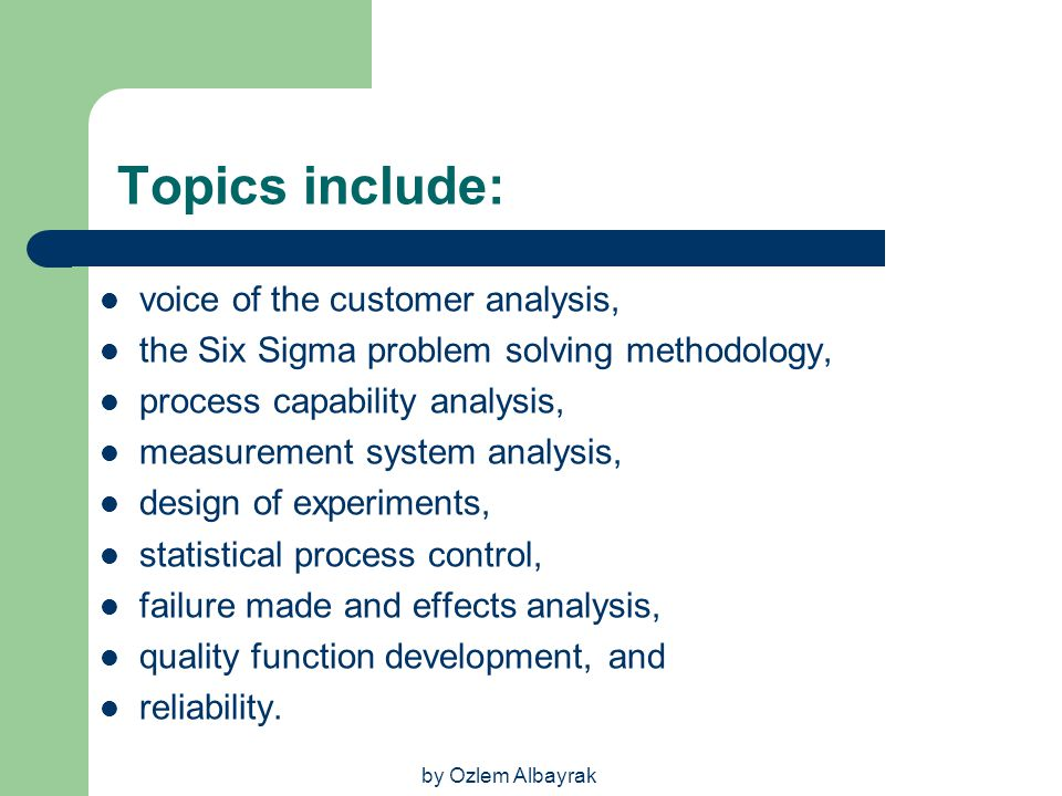 Topics include: voice of the customer analysis,