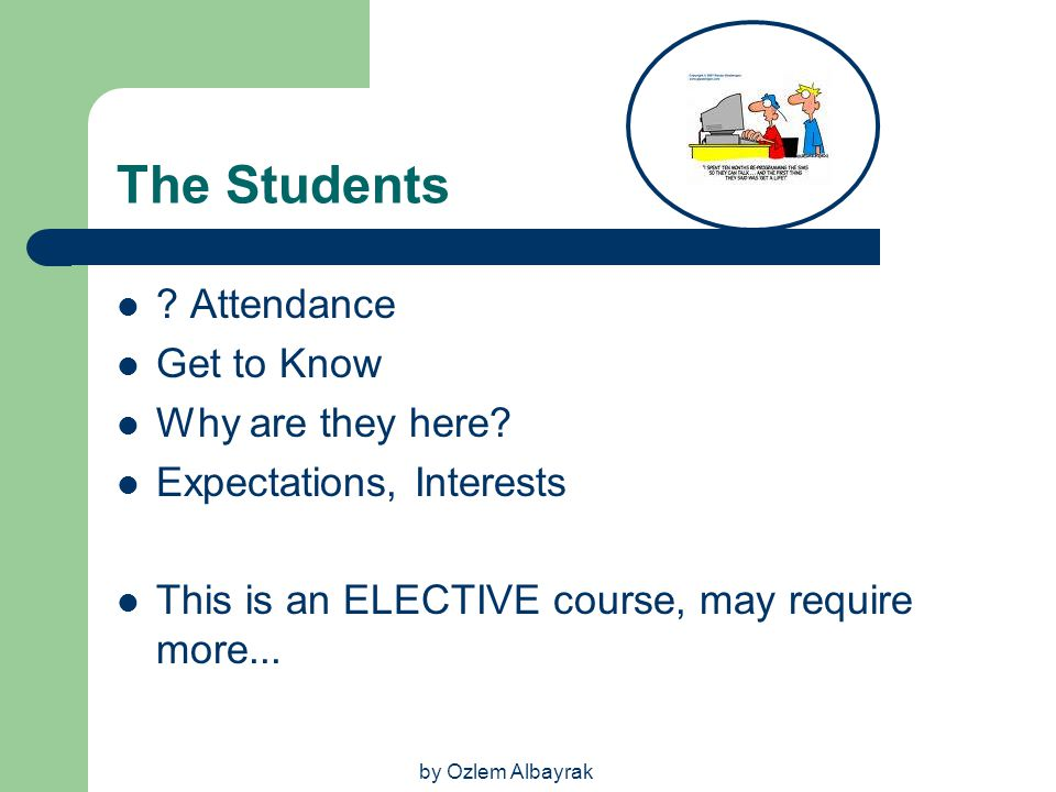 The Students Attendance Get to Know Why are they here