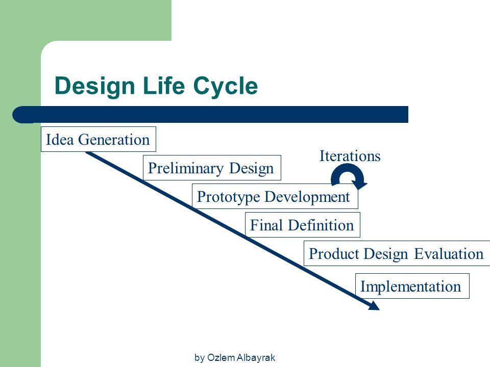 Design Life Cycle Idea Generation Iterations Preliminary Design