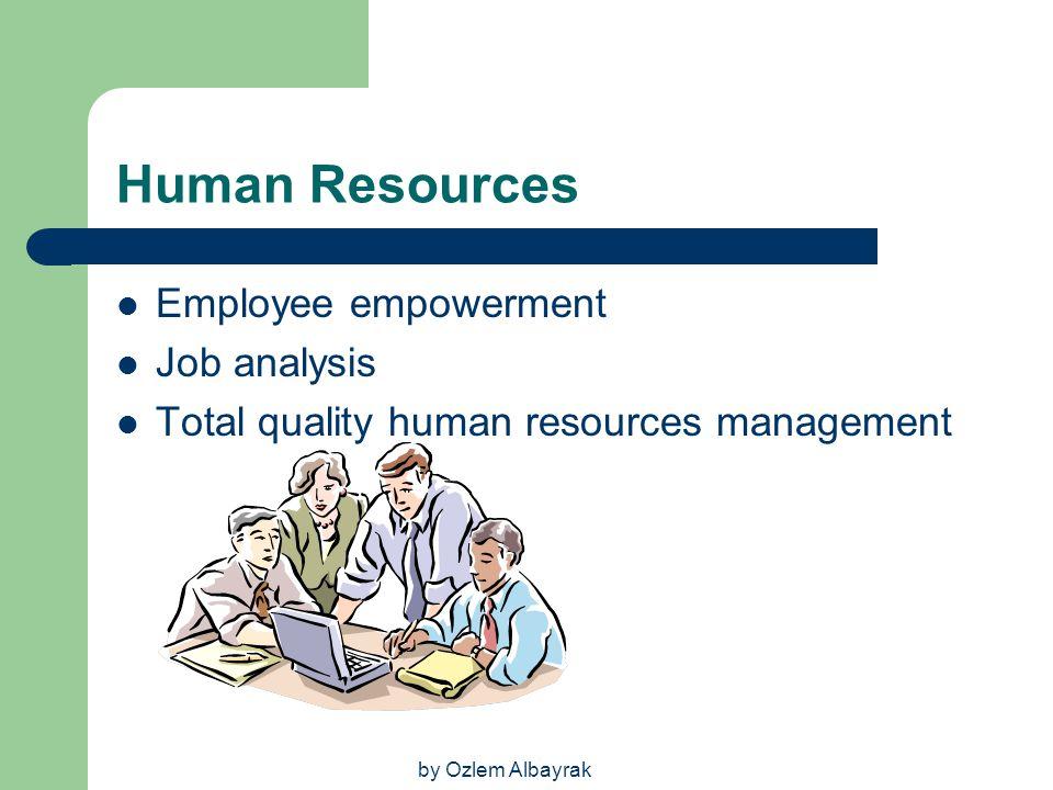 Human Resources Employee empowerment Job analysis