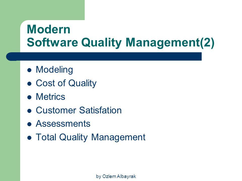 Modern Software Quality Management(2)