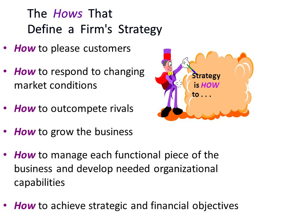 The Hows That Define a Firm s Strategy