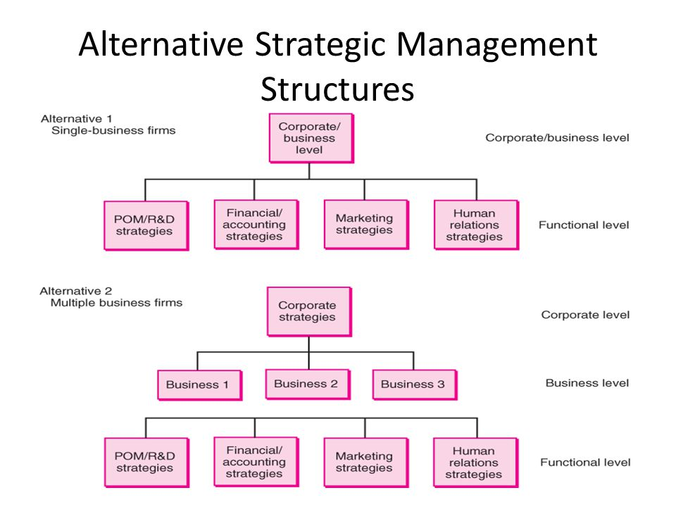 Alternative Strategic Management Structures