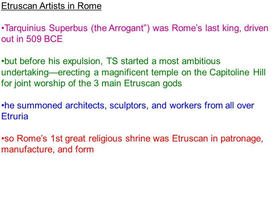 Etruscan Artists in Rome
