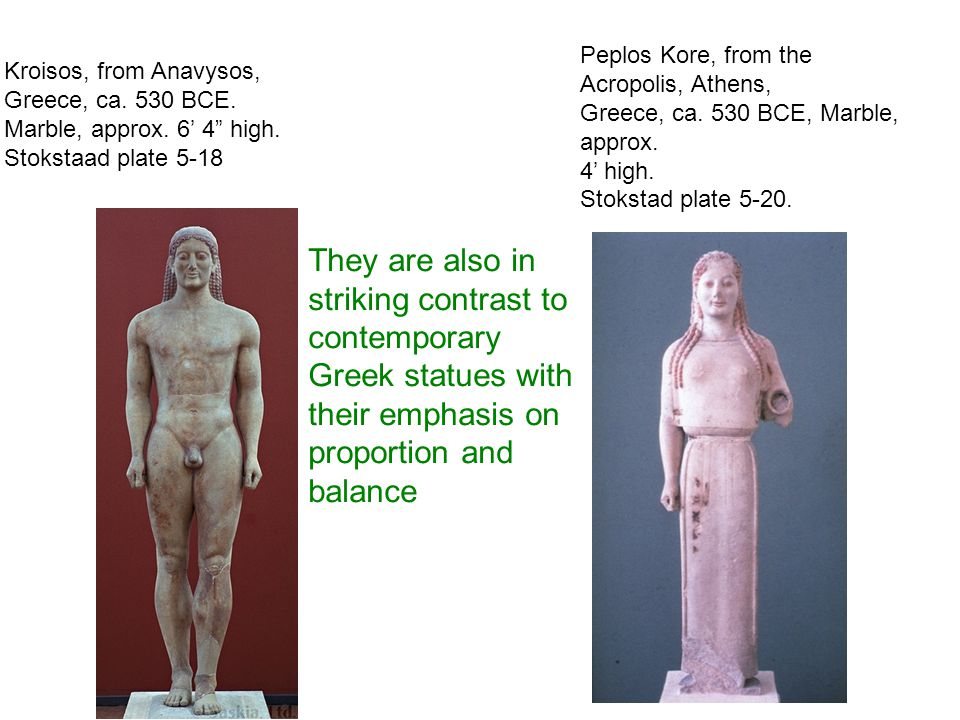 Peplos Kore, from the Acropolis, Athens,