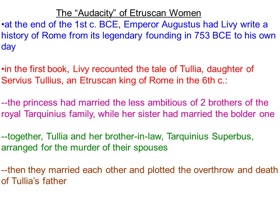 The Audacity of Etruscan Women