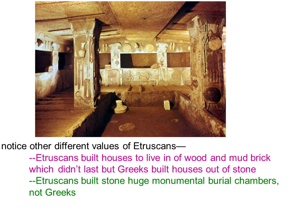notice other different values of Etruscans—