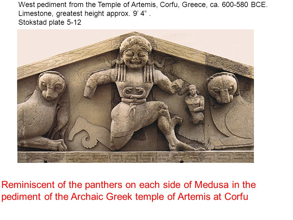 West pediment from the Temple of Artemis, Corfu, Greece, ca
