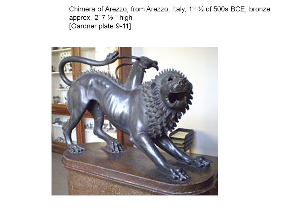 Chimera of Arezzo, from Arezzo, Italy, 1st ½ of 500s BCE, bronze
