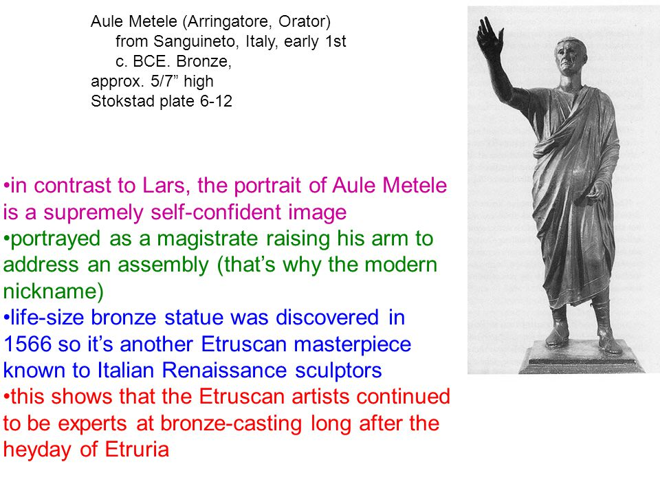 Aule Metele (Arringatore, Orator) from Sanguineto, Italy, early 1st c