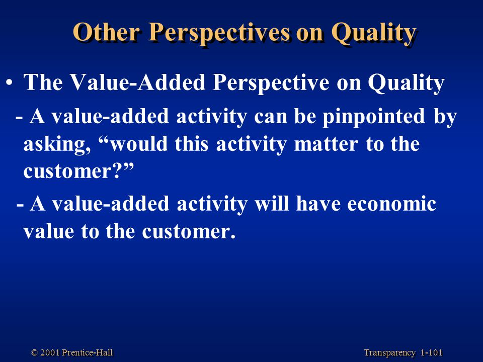 Other Perspectives on Quality