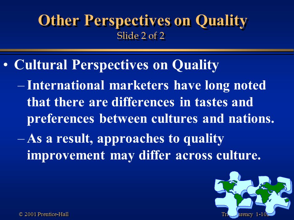 Other Perspectives on Quality Slide 2 of 2